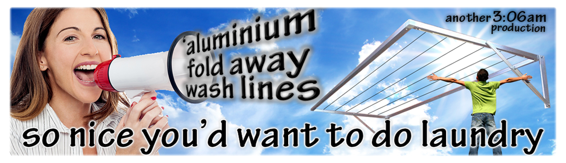 Best fold away wash lines in south africa made from aluminium and folds down tightly against almost any wall